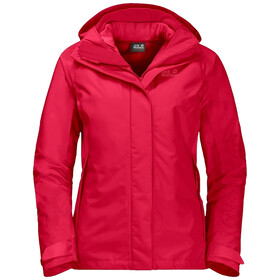 Jack Wolfskin Iceland Voyage 3in1 Jacket Women clear red